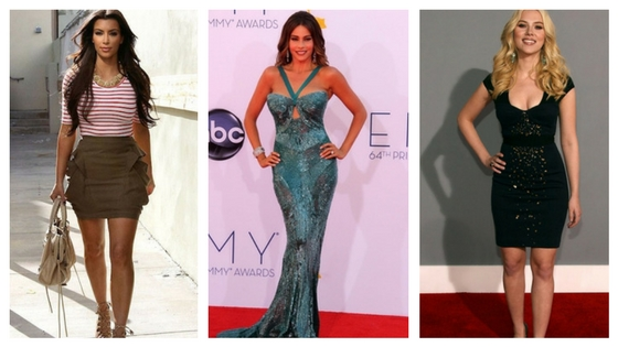 Hourglass body shape celebrities