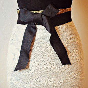Pencil skirt - recycled shirt