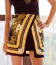 Wrap skirt - Scarf print