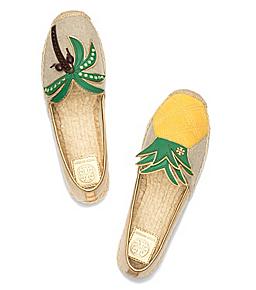 Tory Burch mismatched shoes espadrilles