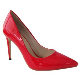 Mismatched-shoes-trend-high heels-Gabriel Maxx-Bright Red