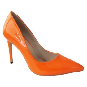 Mismatched-shoes-trend-high heels-Gabriel Maxx-Orange