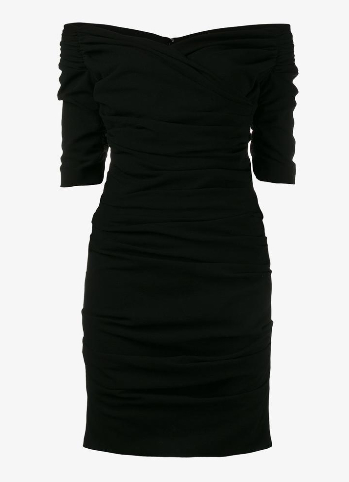 Dolce & Gabbana-Ruched Cocktail Dress-Little Black Dress-LBD
