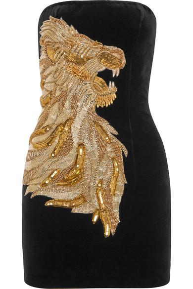 Balmain-Little Black Dress - LBD-Golden-Sequin