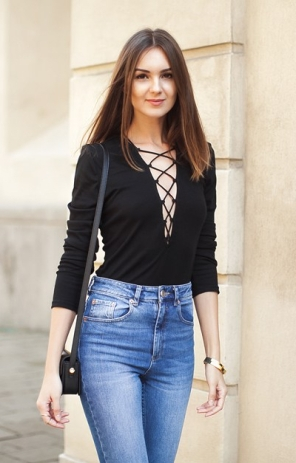 Black Lace up Top_7