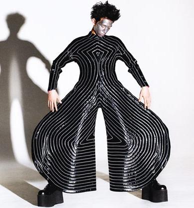 Striped bodysuit - Kansai Yamamoto