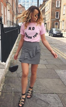 Gingham Ruffled skirt_7