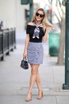 Gingham Ruffled skirt_2