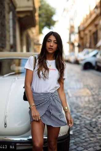 Gingham Ruffled skirt_9