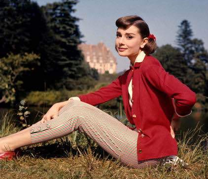 Audrey-hepburn-style-icon-capri pants-and-loafers