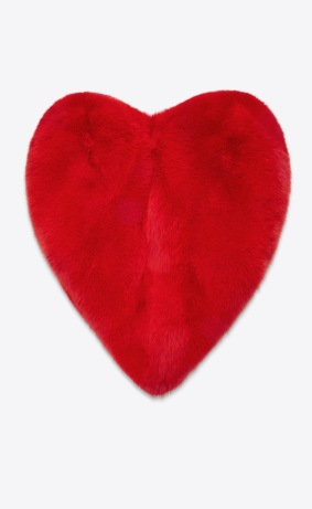 Yves Saint Laurent Fur Heart-Shaped Cape