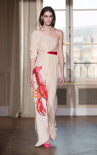 Schiaparelli house inspired Lobster dress