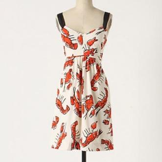Anthropology inspired Lobster Dress
